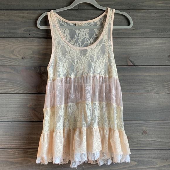 Daytrip Lace Ruffle Blouse